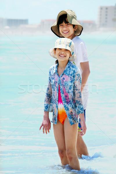 子供 膝 深い 海 波 2 ストックフォト © jarenwicklund