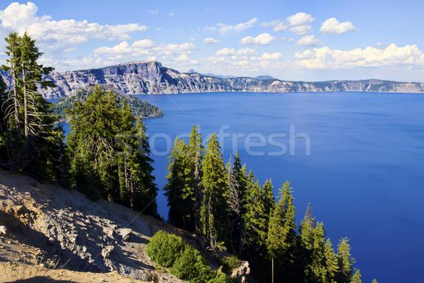 Cênico ver cratera lago parque Oregon Foto stock © jarenwicklund