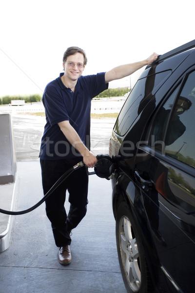 Man pumping gasoline Stock photo © jarenwicklund