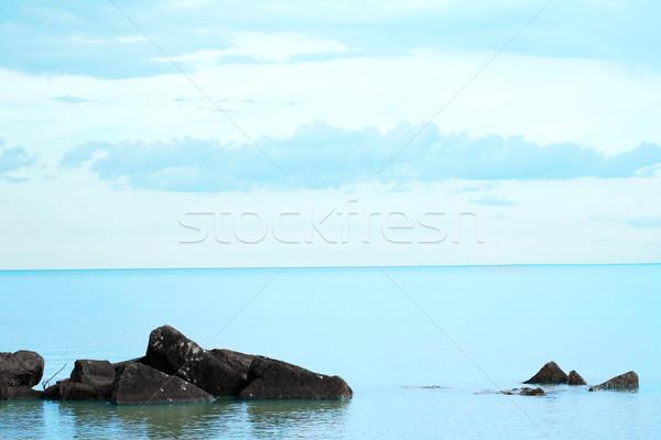 アクア 青 フォアグラウンド エッジ 日 ストックフォト © jarenwicklund