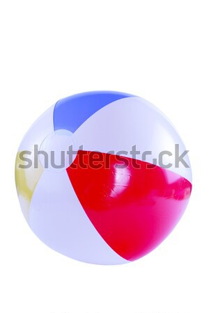 Strandbal geïsoleerd Blauw bal kleur Stockfoto © jarenwicklund