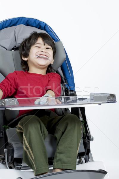 Three year old disabled boy in medical stroller Stock photo © jarenwicklund