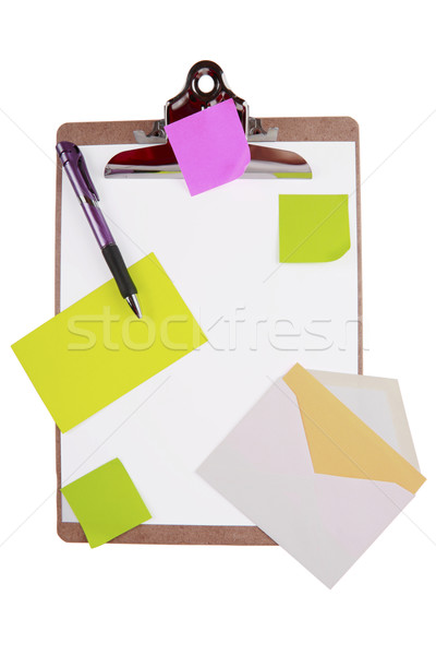 Clipboard with sticky notes and cards Stock photo © jarenwicklund