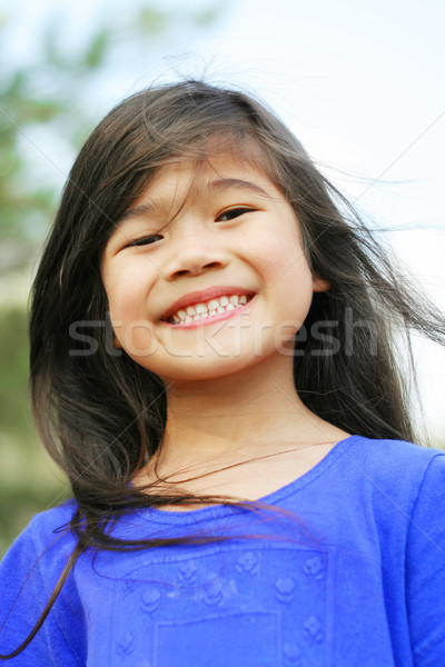 Six year old girl smiling wide Stock photo © jarenwicklund