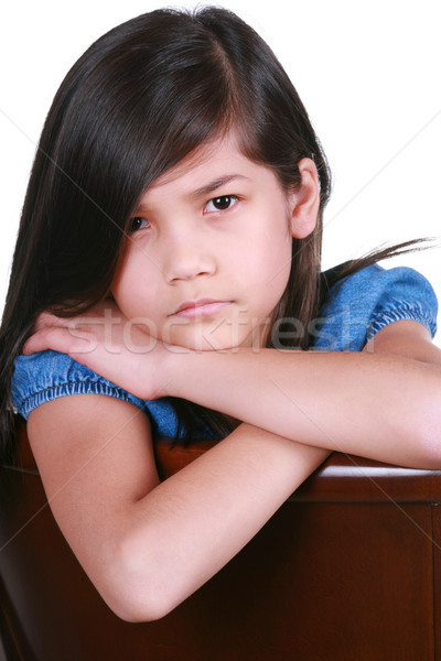 Angry young asian girl Stock photo © jarenwicklund