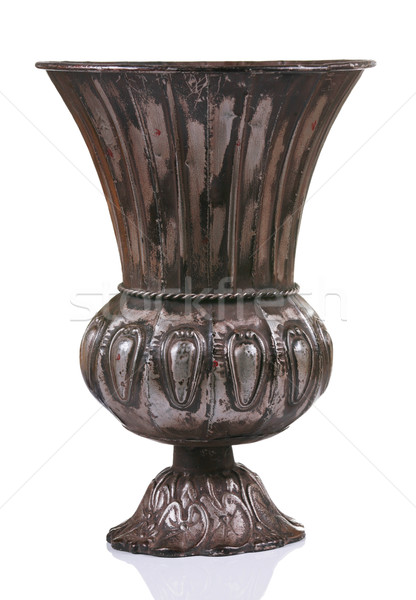 暗い 金属 花瓶 孤立した 白 デザイン ストックフォト © jarenwicklund