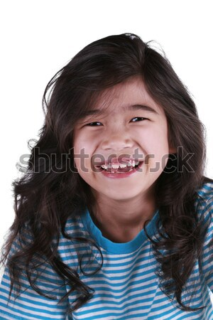 Happy seven year old girl smiling Stock photo © jarenwicklund