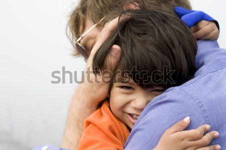 無効になって 少年 父 ビッグ 抱擁 ストックフォト © jarenwicklund
