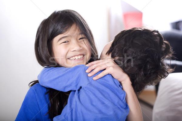Inválido pequeno irmão amor Foto stock © jarenwicklund