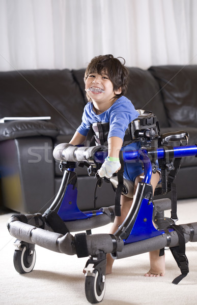 Disabled child in walker Stock photo © jarenwicklund