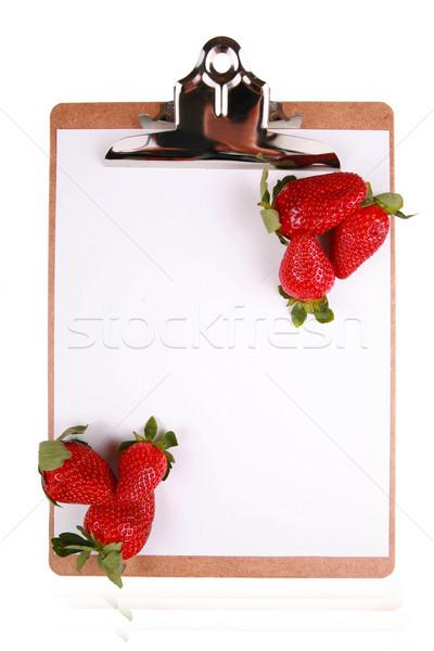 イチゴ クリップボード 健康 孤立した 白 ストックフォト © jarenwicklund