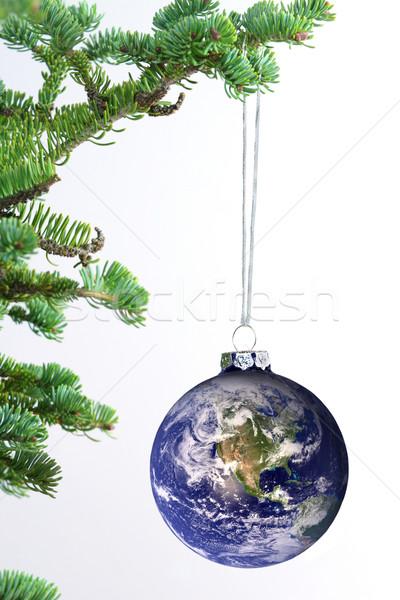 Világ dísz Föld kép szívesség víz Stock fotó © jarenwicklund
