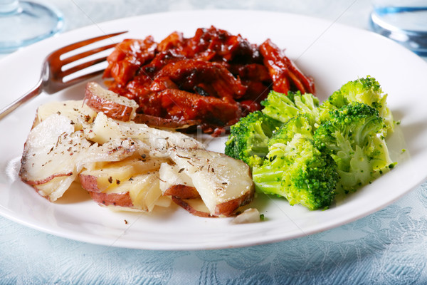Delicious barbecue chicken meal Stock photo © jarenwicklund