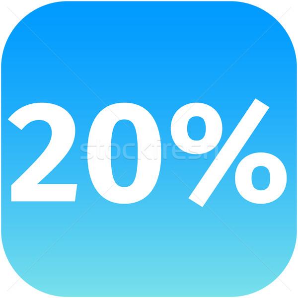 20 percent icon Stock photo © jarin13