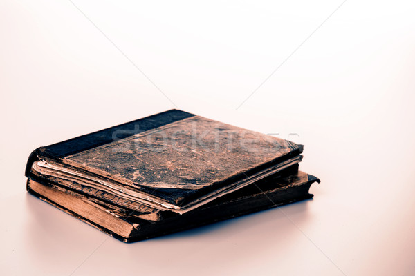 Beautiful old two books closeup on white background Stock photo © jarin13