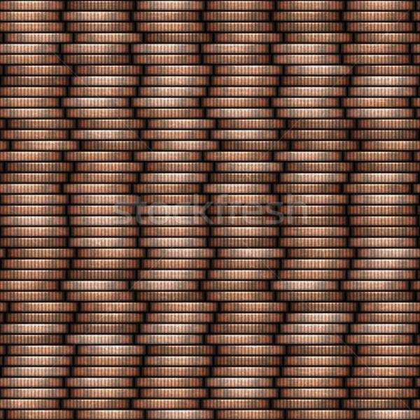coin stack seamless texture - coins in columns Stock photo © jarin13