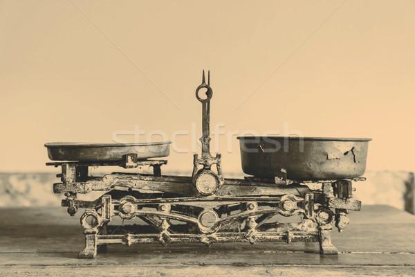 Oude antieke gewicht keuken goederen Stockfoto © jarin13