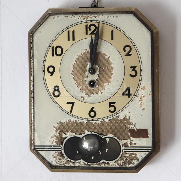 retro wall clock on old background Stock photo © jarin13
