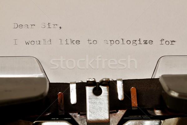 Text Dear Sir typed on old typewriter Stock photo © jarin13