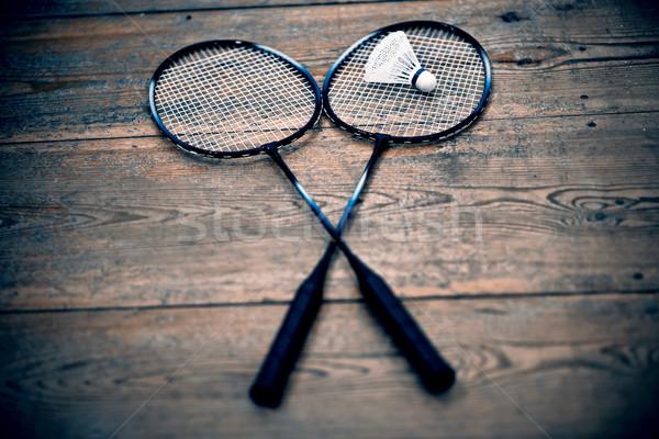 vintage badminton racquet Stock photo © jarin13