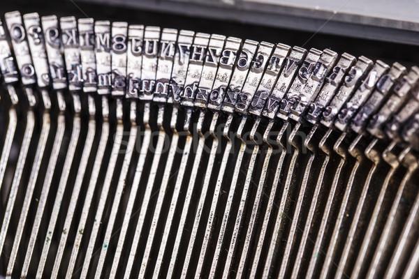 Alten Schreibmaschine Briefe schönen Technologie Stock foto © jarin13