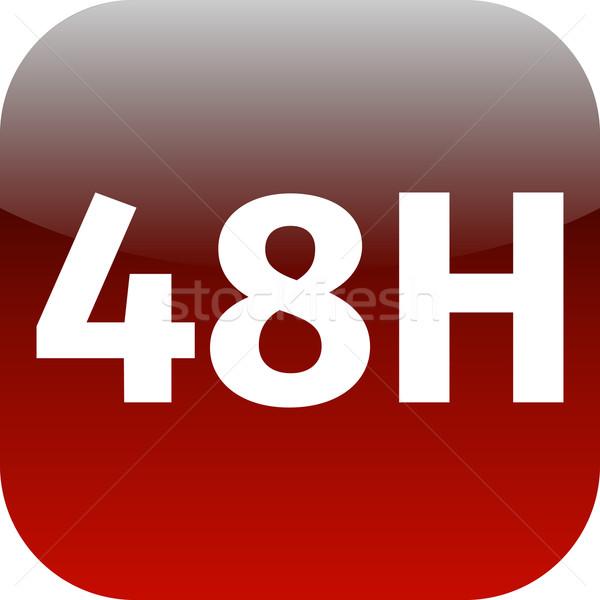 ícone vermelho branco telefone teia aplicativo Foto stock © jarin13