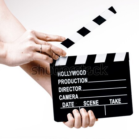 Film kezek fehér film fa televízió Stock fotó © jarin13