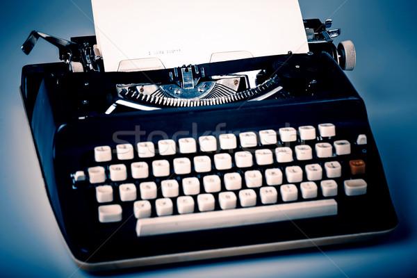 Papír írógép szeretet üzlet háttér ír Stock fotó © jarin13