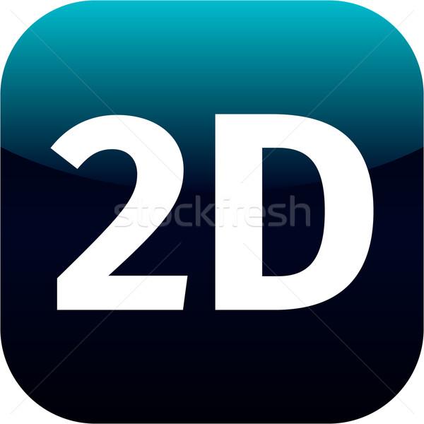 modern blue 2D icon Stock photo © jarin13
