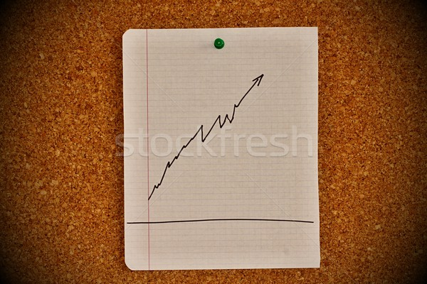 Quadro de avisos gráfico esboço cortiça lucro Foto stock © jarin13