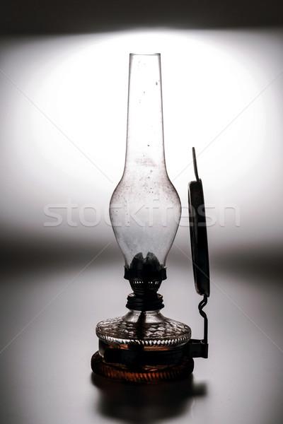 öreg lámpa izolált fehér tükör ház Stock fotó © jarin13