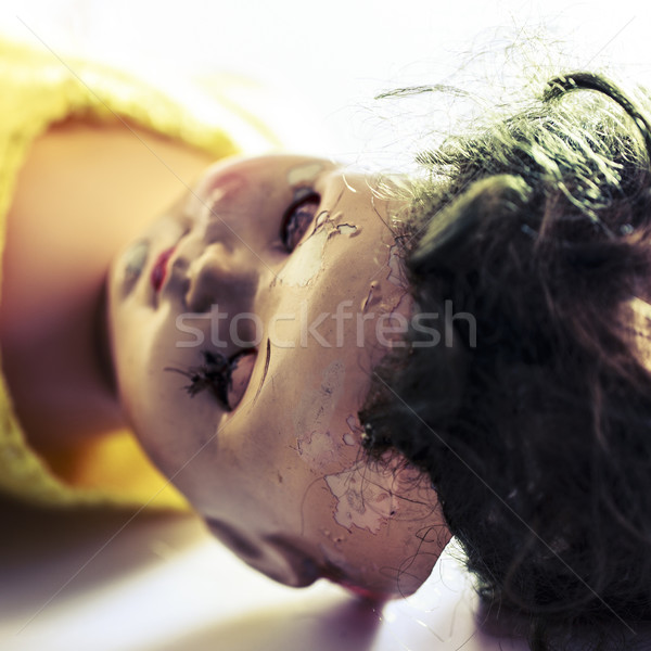 head of beatiful scary doll like from horror movie Stock photo © jarin13