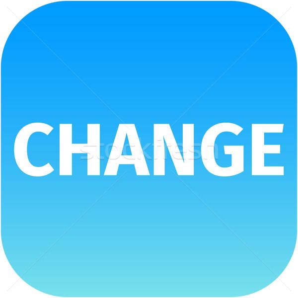 change blue web icon Stock photo © jarin13
