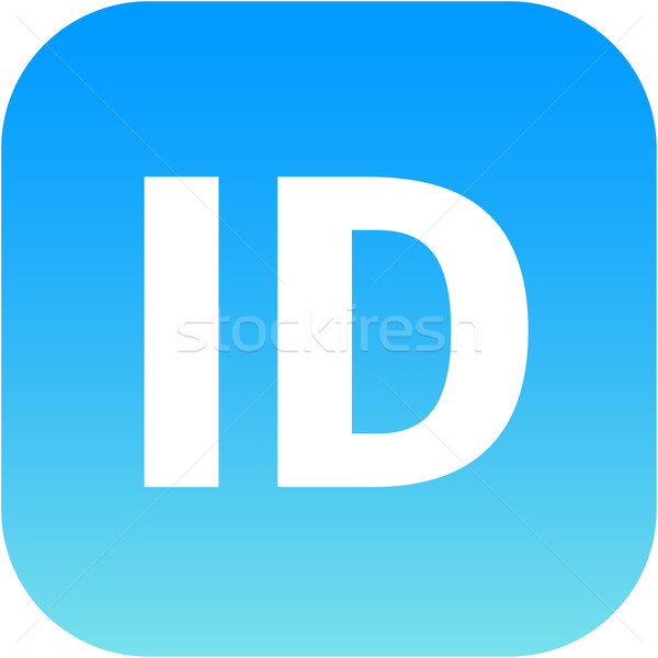 blue ID icon for apps Stock photo © jarin13