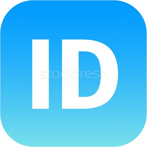 Kék személyi igazolvány ikon appok háló internet Stock fotó © jarin13