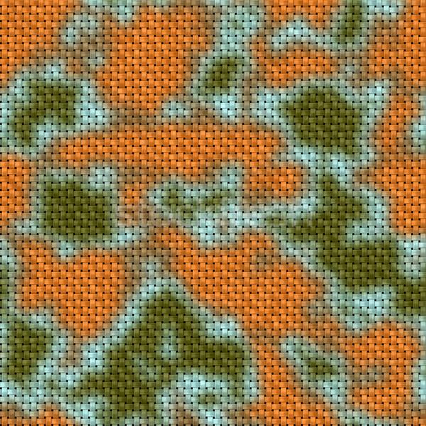 Ordu yeşil kahverengi kumaş doku Stok fotoğraf © jarin13
