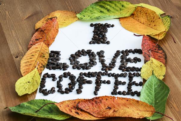 Amor café quadro papel abstrato luz Foto stock © jarin13