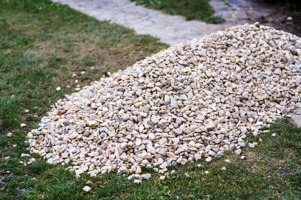 pile of stones on the grass Stock photo © jarin13