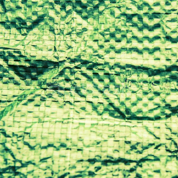 A green plastic bag texture, macro, background Stock photo © jarin13