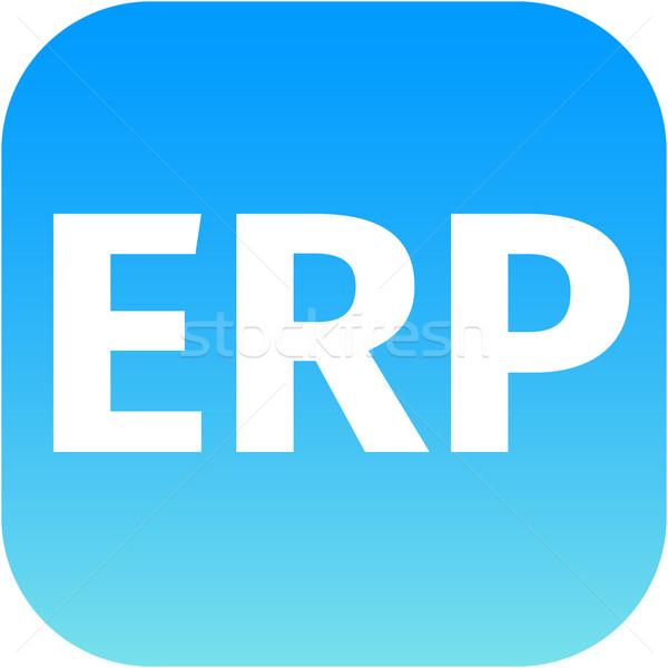 modern erp icon in blue Stock photo © jarin13