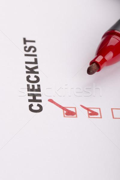 Checklist on white with marker  Stock photo © jarin13