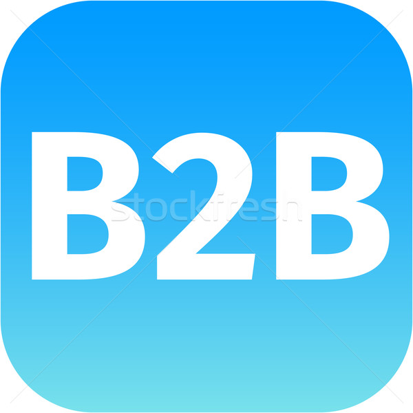 B2b kék számítógép ikon fehér háttér felirat Stock fotó © jarin13
