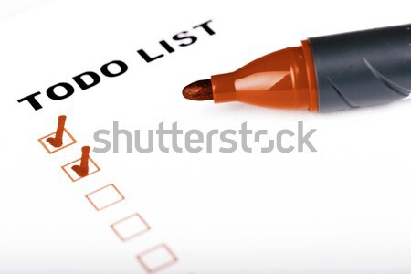 To Do list with woman hand and marker Stock photo © jarin13