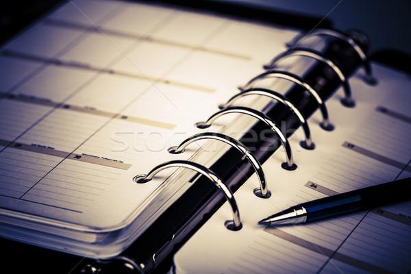 Personale organizzatore pen bianco lusso Foto d'archivio © jarin13