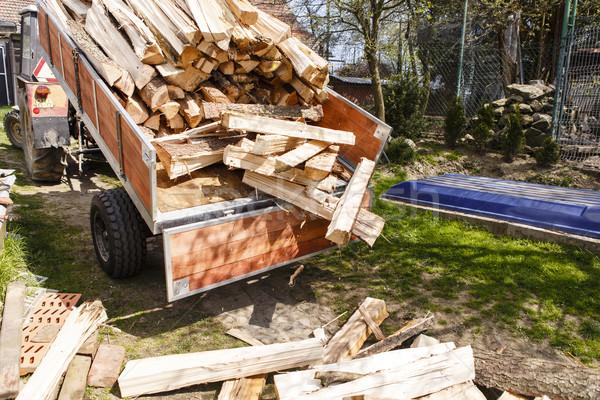 ストックフォト: トラクター · 戻る · 木材 · 火災 · 森林 · 建設