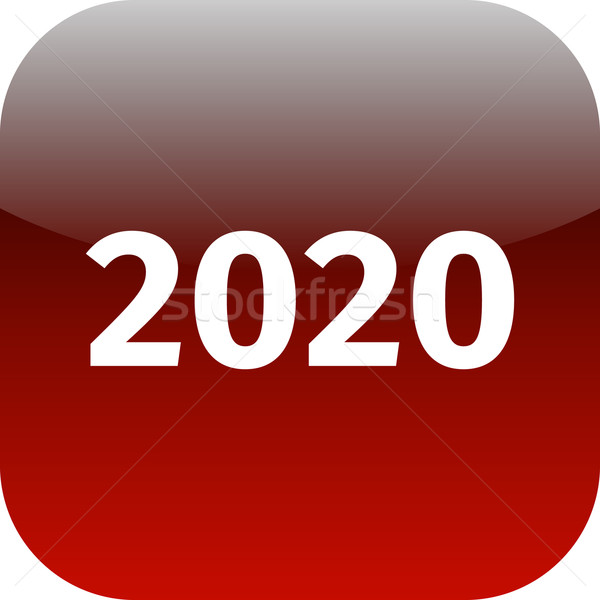 year 2020 red icon Stock photo © jarin13