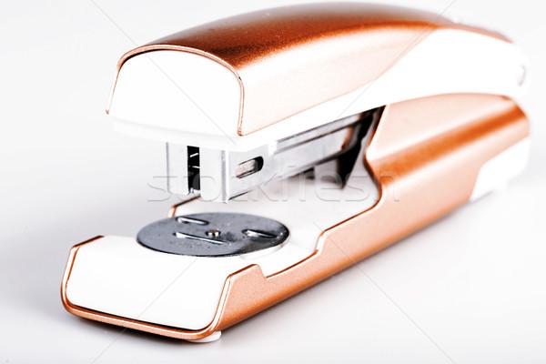 Light green stapler isolated on white Stock photo © jarin13