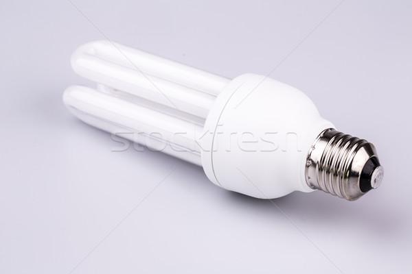 Energia hatékony villanykörte izolált fehér technológia Stock fotó © jarin13