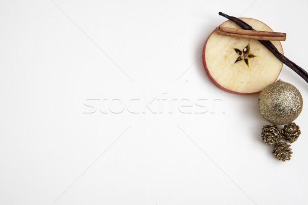 Natal cartão postal maçã estrela baunilha retro Foto stock © jarin13