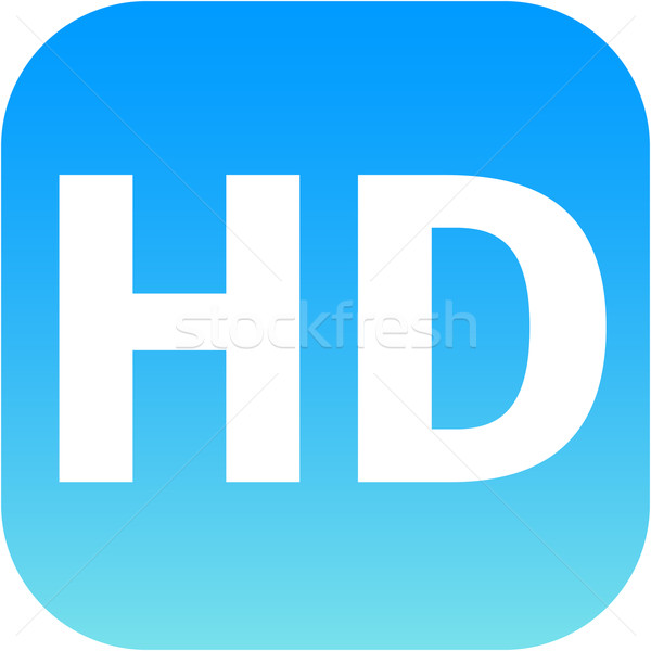 HD - High definition blue icon Stock photo © jarin13